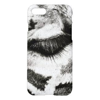 Giraffe Eye Black and white photo. iPhone 8/7 Case