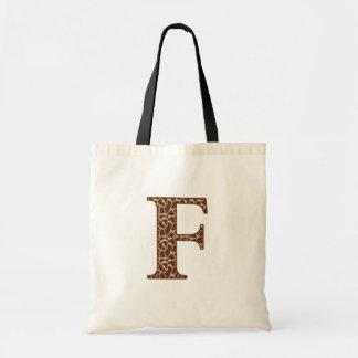 Giraffe F Tote Bag