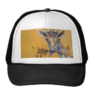 Giraffe Face Painting Mesh Hats