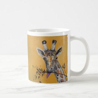 Giraffe Face Painting Coffee Mugs