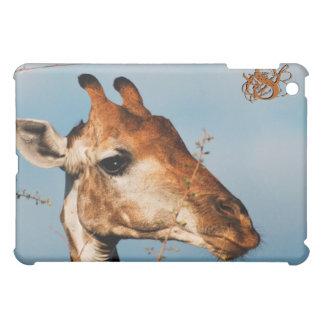 Giraffe face photography iPad mini cover