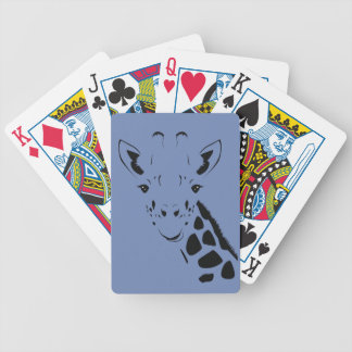 Giraffe Face Silhouette Bicycle Playing Cards