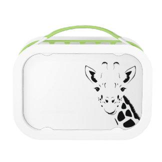 Giraffe Face Silhouette Lunch Box