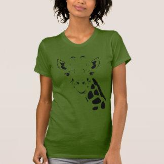 Giraffe Face Silhouette T-Shirt