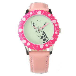 Giraffe Face Silhouette Watch