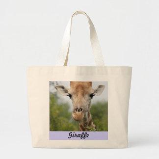 Giraffe Face Jumbo Tote Bag