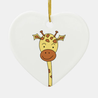 Giraffe Facing Forwards. Cartoon. Christmas Ornament