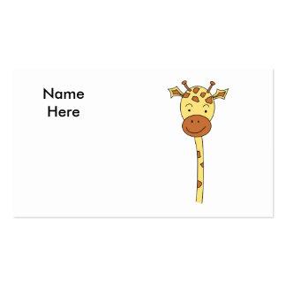 Giraffe Facing Forwards. Cartoon. Pack Of Standard Business Cards