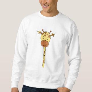 Giraffe Facing Forwards. Cartoon. Sweatshirt
