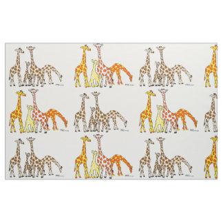 Giraffe Family Fabric