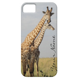 Giraffe Family iPhone SE + 5 Case Personalize!