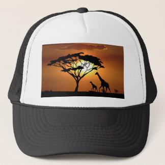 giraffe family trucker hat