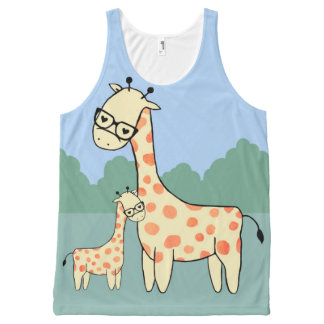 Giraffe Family - Vest All-Over Print Tank Top