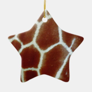giraffe faux fur christmas ornament