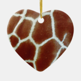 giraffe faux fur christmas ornament