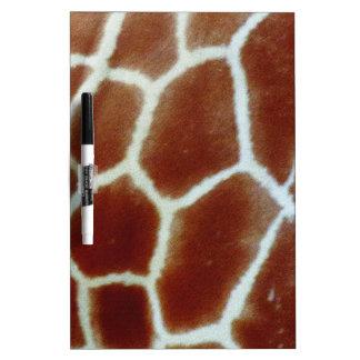 giraffe faux fur dry erase board