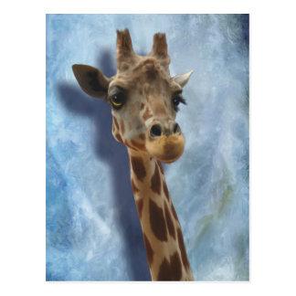 Giraffe Fine Art Portrait of Heshimu Postcard