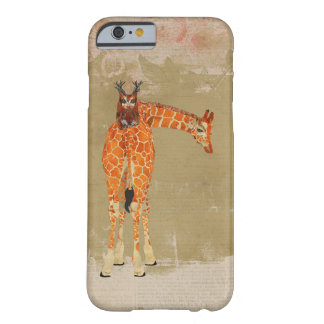 GIRAFFE & FLORAL ANTLER OWL BARELY THERE iPhone 6 CASE