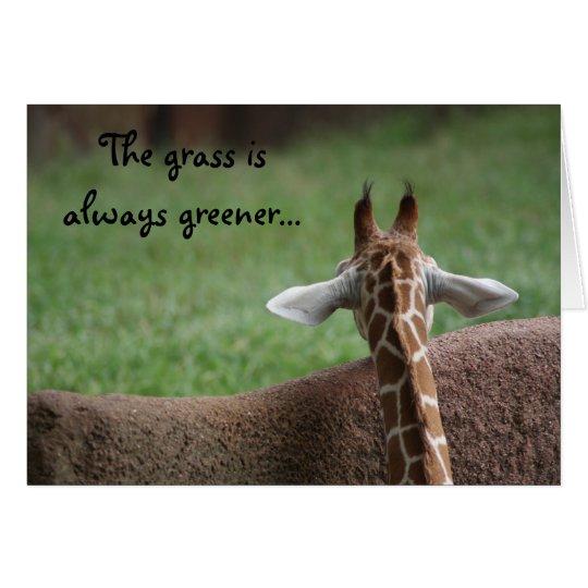 Giraffe friendship card