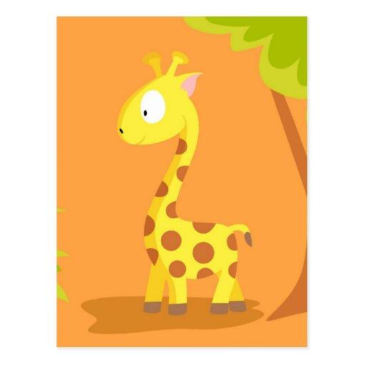 Giraffe from my world animals serie post card