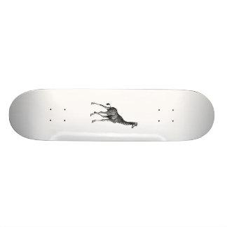 Giraffe full body animal vintage drawing design 20.6 cm skateboard deck