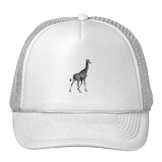 Giraffe full body animal vintage drawing design hat