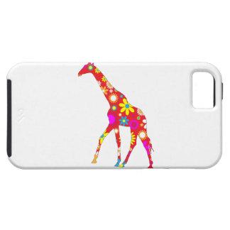 Giraffe funky retro floral iphone 5 case tough