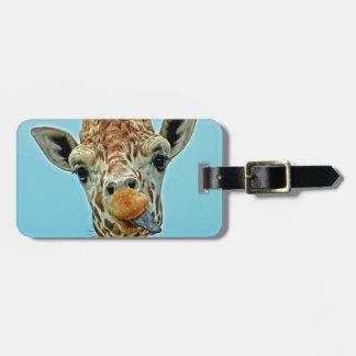 giraffe funny bag tag