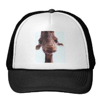 Giraffe Funny Face Mesh Hat