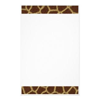 Giraffe Fur Design Stationery