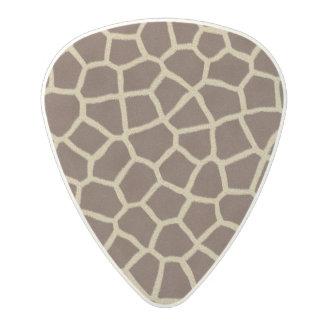 Giraffe Fur Print background Polycarbonate Guitar Pick