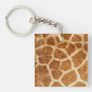 Giraffe Fur Print Acrylic Key Chains