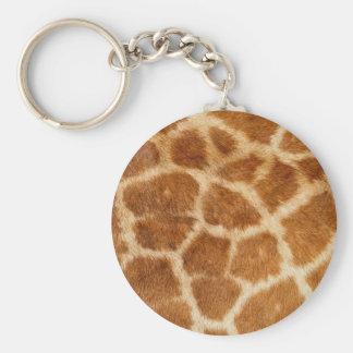Giraffe Fur Print Key Chains