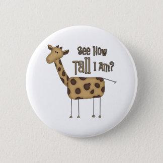 Giraffe Gifts 6 Cm Round Badge