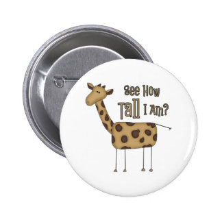 Giraffe Gifts 6 Cm Round Badge