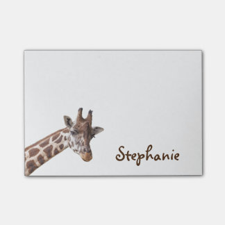 Giraffe Girly Name Post it Notes