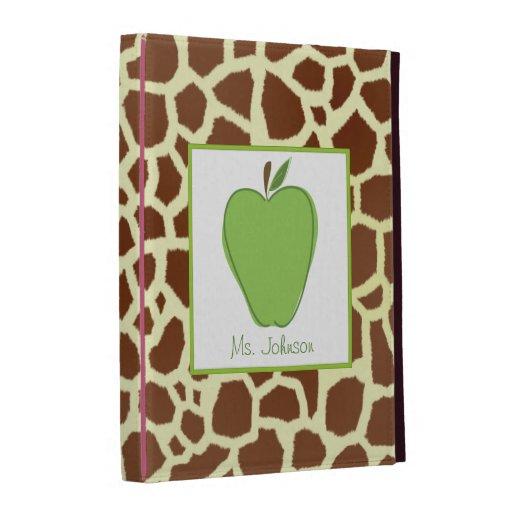 Giraffe Green Apple iPad Folio For Teachers iPad Folio Covers