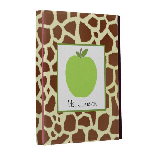 Giraffe & Green Apple iPad Folio For Teachers iPad Folio Case