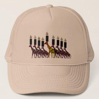 Giraffe Hannukah Menorah Trucker Hat