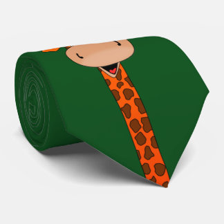 giraffe head and neck tie
