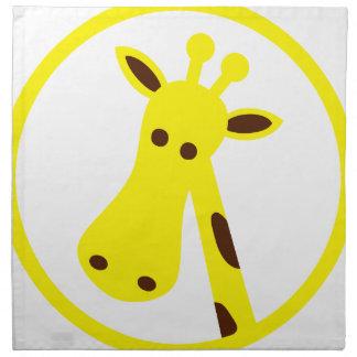 Giraffe Head Napkin