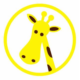 Giraffe Head Standing Photo Sculpture