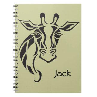 Giraffe Head Tattoo Art Notebook