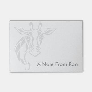 Giraffe Head Tattoo Art Post-it Notes