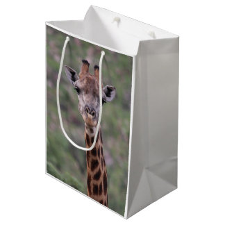 Giraffe Headshot Medium Gift Bag