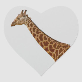 Giraffe Heart Sticker