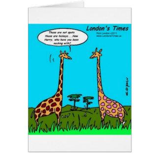 Giraffe Hickeys Funny Gifts Tees Mugs & Cards