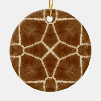Giraffe Hide Kaleidoscope Pattern Double-Sided Ceramic Round Christmas Ornament