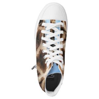 Giraffe High Tops Printed Shoes