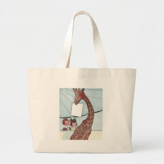 Giraffe Holding Sign Under the Big Tent Tote Bag